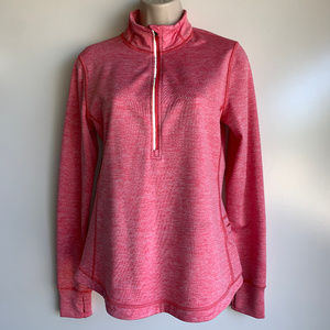 Lucy Activewear Pink L/S Thumb Hole Zip Pullover S